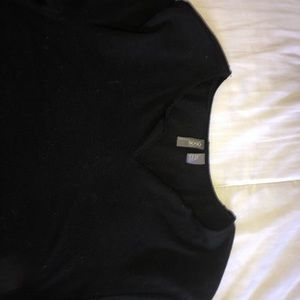 ASOS UNISEX BASIC BLACK RAW V CUT TEE NEVER WORN
